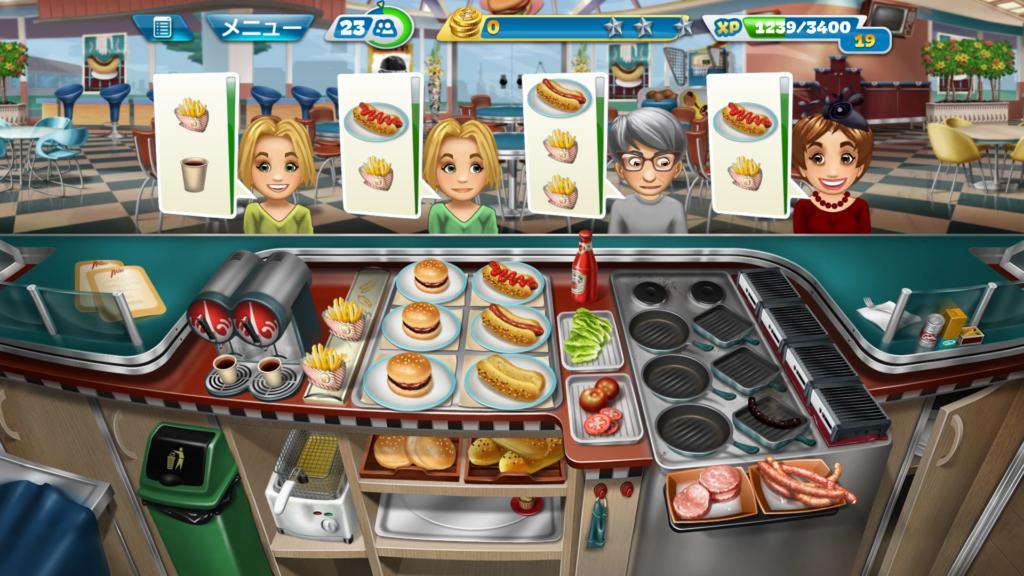 CookingFever クッキングフィーバー最高の段取りゲーム!頭と精神の鍛錬に最適です